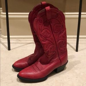 Adorable Girls' Red Cowgirl Boots